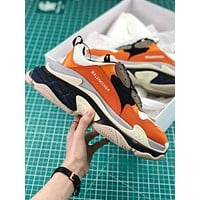 Balenciaga Triple S Trainers Orange Sneakers