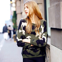 SIMPLE - Hot Popular Women Loose Long Sleeve Round Necked Sweatshirt a13130