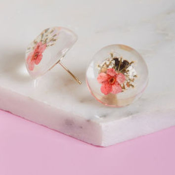 Natureful Notion Earrings in Pink