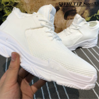 HCXX B001 Balenciaga Flyknit Breathable Casual Running Shoes White