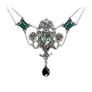 Alchemy Gothic Queen of the Night Pendant Necklace