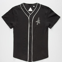 Altamont A Mens Baseball Jersey Black  In Sizes