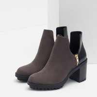 TRACK ANKLE BOOTS WITH SLITS