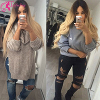 Free Shipping 7A Glueless Full Lace Human Hair Wigs/Ombre Lace Front Wigs Brazilian Body Wave Two Tone #1b/27 Blonde Lace Wig