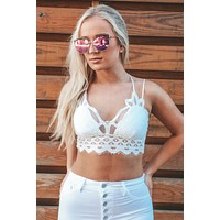 Just What You Need Bralette: White