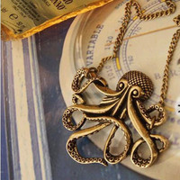 Vintage Pirates of the Caribbean Davy Jones Octopus Long Clothing Chain