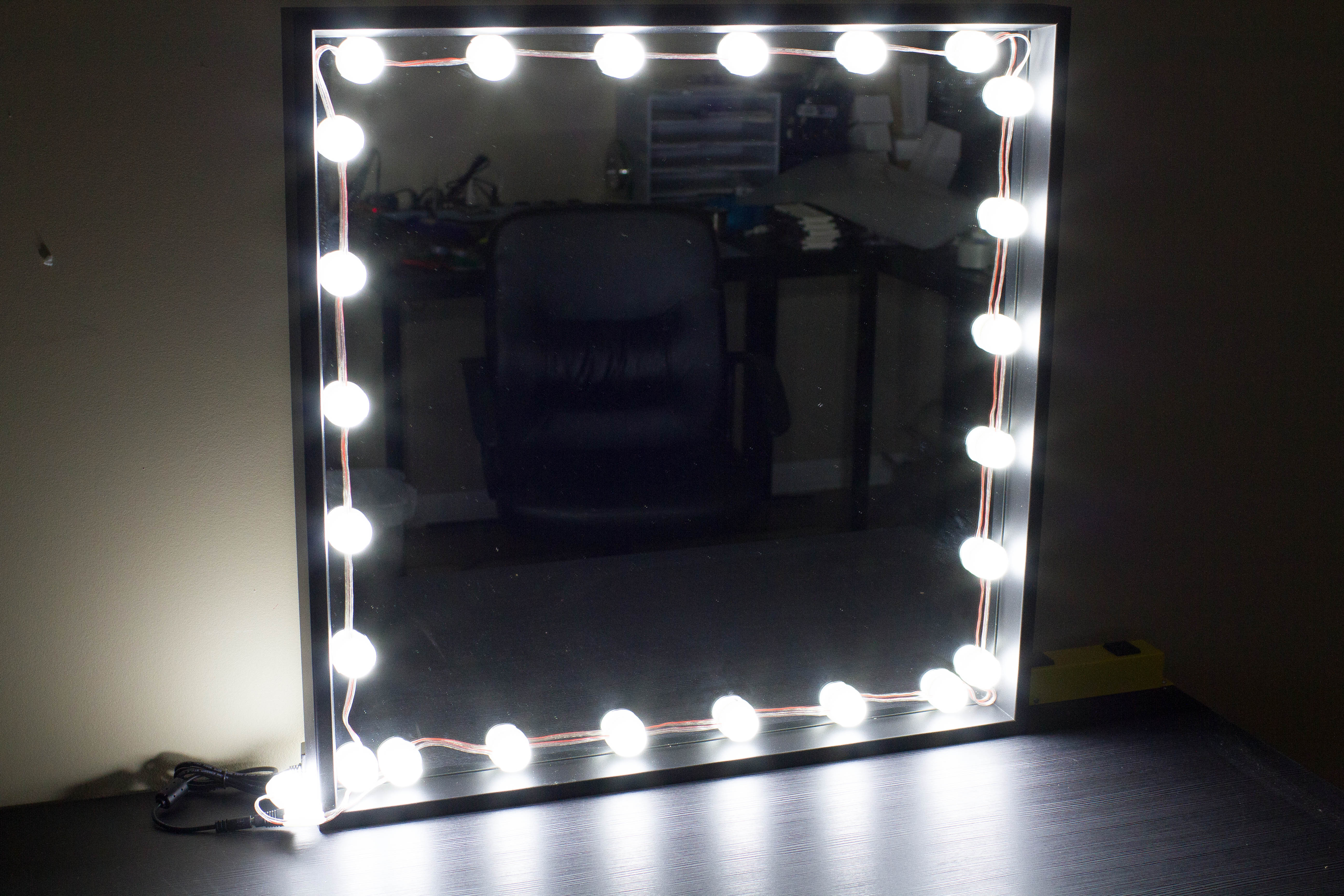 Image of Bulb Series Makeup mirror LED light package with dimmer 9ft in length
