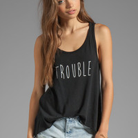 Feel the Piece x Tyler Jacobs Trouble High Low Tank in Black from REVOLVEclothing.com
