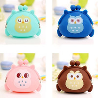 Lovely Women Girls Candy Color Wallet Jelly Silicone Coin Bag Purse = 1958685124