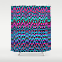 Making Waves Berry Smoothie Shower Curtain by Shawn Terry King