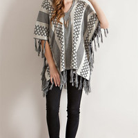 Poncho Sweater - Natural