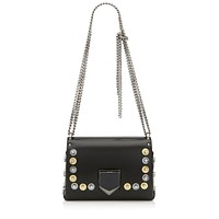 Jimmy Choo Womens Lockett Petite Spazzolato Black Metal Disc Studs JIK010003