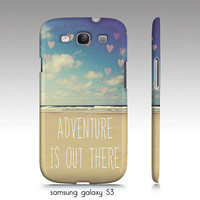 "Samsung galaxy S3, iphone 4,4s,5 case ""Adventure is out there"" beach, ocean photography"