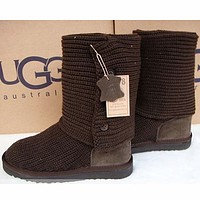 Ugg Fashion New Wool Boots Ankle Boots Korean Fashion Knit Thick Wool Snow Boots Shoes