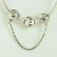 Authentic Pandora Charms Dainty Bow Bracelet Safety Chain