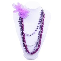 $5.59  Personalized Woven Bow Beaded Long Strand Necklace at Online Fashion Jewelry Store  Gofavor