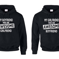 Awesome girlfriend and boyfriend Couples hoodies Valentines day