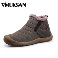 New Men Winter Snow Shoes Lightweight Ankle Boots Warm Fashion Waterproof Mens Rain Boots 2016 New Furry Booties Shoes For Men
