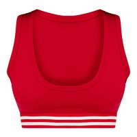 Red Stripe Crop Top