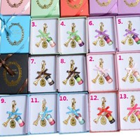 Hot sell France  Macaron Key chain Effiel Tower Bag Charm macarons keychain Christmas Gifts for Her/Him Color gift Box