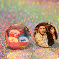 Parks and Recreation Pinback Button Pair  - TREAT YO SELF