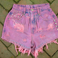 ON SALE Smokin Hot Pink High Waisted Shorts