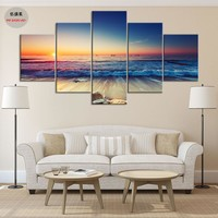5 Piece Canvas Art Painting Pintura Wall Pictures For Living Room Cheap Modern Paintings Home Decor Picture Schilderij No Frame