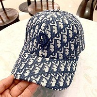 Dior new men and women fashion retro beach visor baseball cap