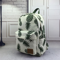 Fresh Pineapple Pattern Backpack School Bag Travel Bag