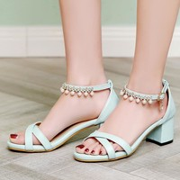 2017 New Big and Small Size 30- 43 Sandals Summer Style Ladies Platforms Fashion Dress  Sweet High Heel Shoes Women F-3