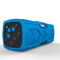 newest four waterproof Bluetooth wireless outdoor speaker stereo mountaineering priced 3D surround sound Blue