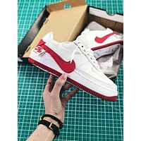 Nike Air Force 1 Jester White University Red Sport Shoes