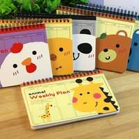 Hot Weekly planner notebook Diary Cute Planners school notebook paper 75 sheets organizer Note book Office School Supplies gift