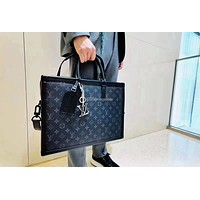 louis vuitton lv new men classic leather large capacity luggage travel bags tote handbag crossbody satchel 56