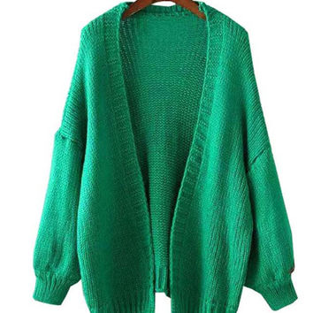 Long Sleeve Knitted Coat