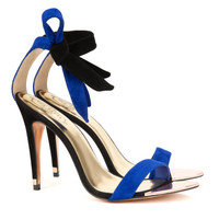 Ankle tie heels - Bright Blue | Shoes | Ted Baker