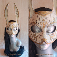 MADE TO ORDER War Torn Splicer Bunny Rabbit Cracked Mask Bioshock Cosplay