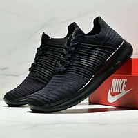 NIKE BETTER WORLD New fashion sports leisure couple knit running shoes Black