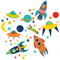 Blast Off Wall Art Decal Kit