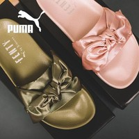 Puma X Fenty Bandana Feminine Fashion Bow Sandals Slippers F