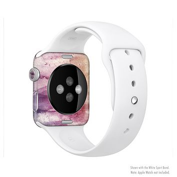 The Pink-Yellow-Blue Grunge Painted Surface Full-Body Skin Kit for the Apple Watch