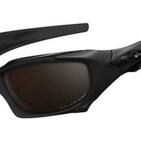 Oakley Pit Boss Polished Black Gunmetal VR28 Black Iridium Sunglasses