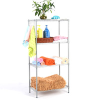 Langria 4-Tier Classic Metal Wire Storage Rack Shelving Rack Shelving Unit 275 lbs Capacity for Kitchen Toy Bedroom Bathroom
