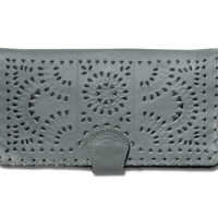 TOMS Marketplace Cleobella Mineral Grey Painted Mexicana Wallet