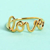 A-Love and Beyond Gold Knuckle Ring