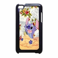 Disney Stitch Floral iPod Touch 4th Generation Case