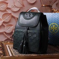 TB TORY BURCH WOMEN'S LEATHER FI BACKPACK BAG