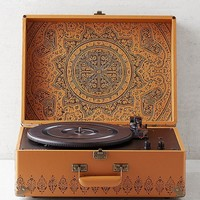 Crosley X UO Keepsake Embossed Portable Bluetooth Vinyl Record Player | Urban Outfitters