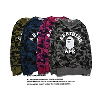 BAPE Ape head camouflage crew neck sweater S ~ 2XL