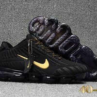 Nike air Vapormax Black/Gold Cushion Shoes Size 40-47